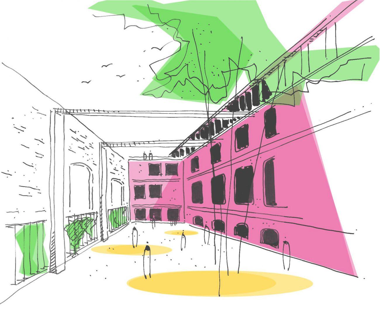 Skizze 1 Schokoladenfabrik Alexander Poetzsch Architekten